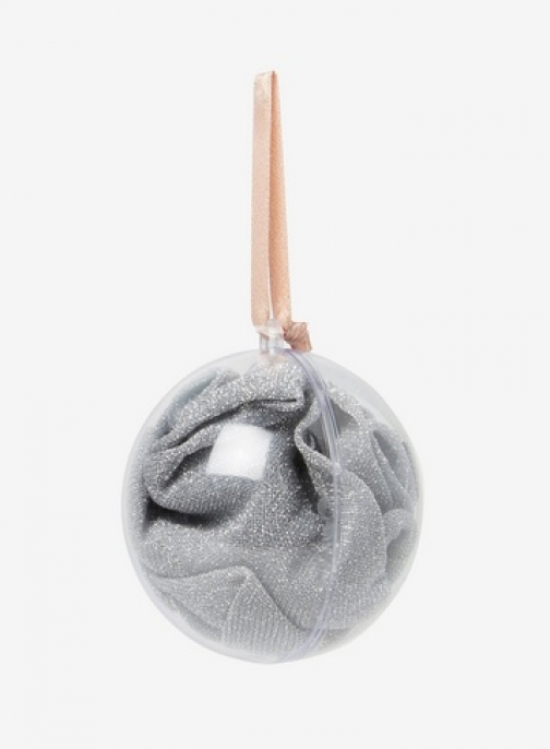Dorothy Perkins Womens Silver Lurex A Bauble- Silver, Silver Sock