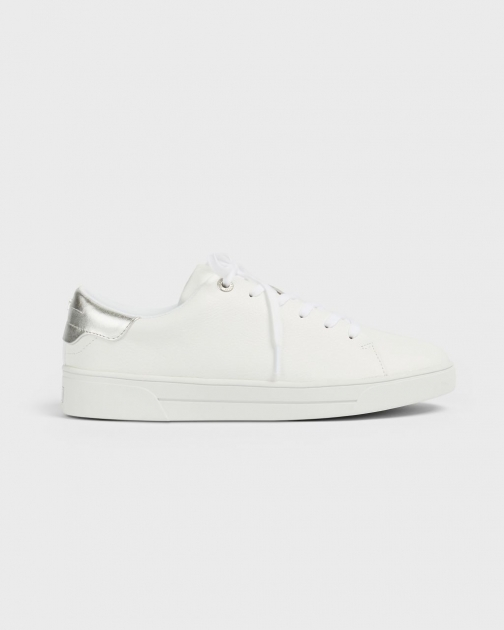 Ted Baker Trimmed Low-top Leather Sneakers Trainer