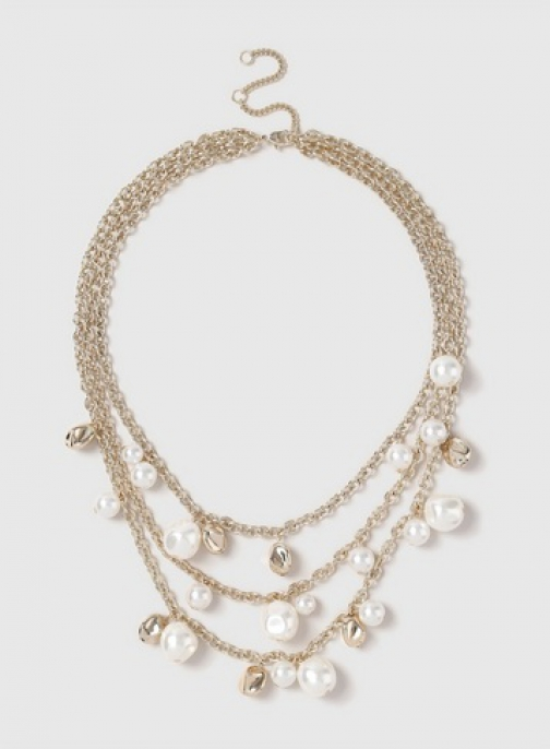 Dorothy Perkins Gold Look 3 Row Chain Necklace