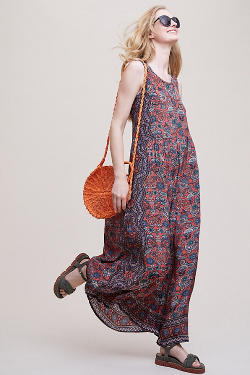 Anthropologie Cassie Printed- - Assorted, Size Maxi Dress