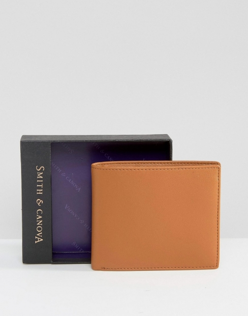 Asos Smith And Canova Classic Bifold Leather Wallet