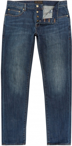 Ted Baker Men's Ted Baker Steed Straight Fit Dark Wash Jeans