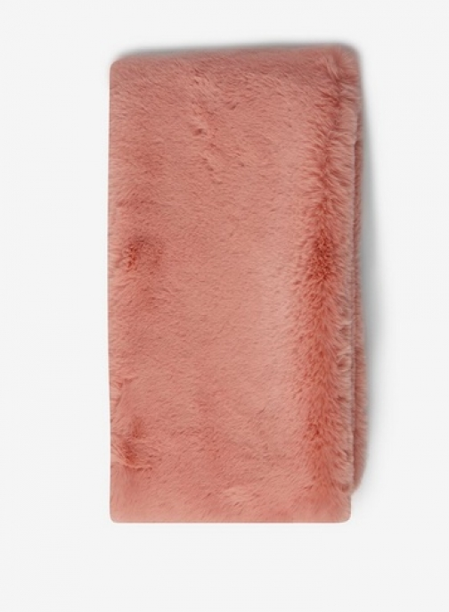 Dorothy Perkins Pink Knitted Faux Fur Scarf