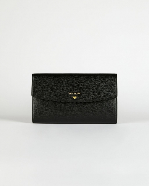 Ted Baker Scallop Detail Leather Travel Wallet