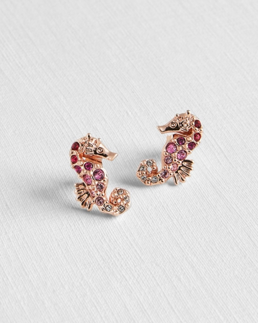 Ted Baker Seahorse With Crystals From Swarovski® Earring