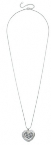 Dorothy Perkins Silver Finish Heart Necklace
