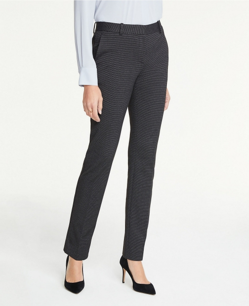 Ann Taylor The Tall Straight Leg Pant Pindot - Curvy Fit Suit
