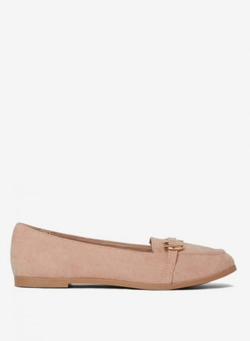 Dorothy Perkins Womens Wide Fit Nude 'Light' - Cream, Cream Loafer