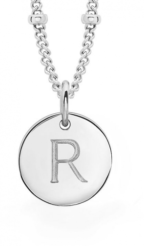 Missoma Ladies Silver Initial R With Beaded Chain Pendant