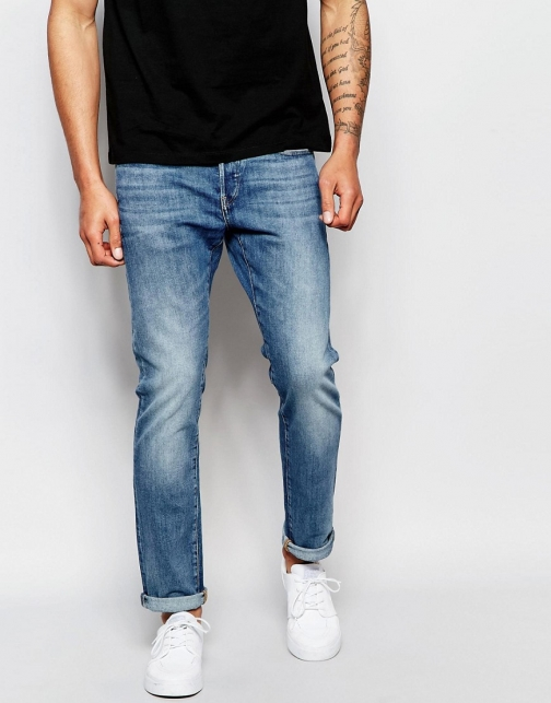 G-star 3301 Slim Fit Stretch Light Aged Wash Jeans
