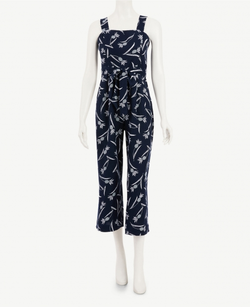 Ann Taylor Factory Tall Pineapple Square Neck Jumpsuit