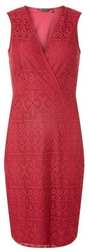 Dorothy Perkins Womens Wine Lace Wrap - Red, Red Bodycon Dress