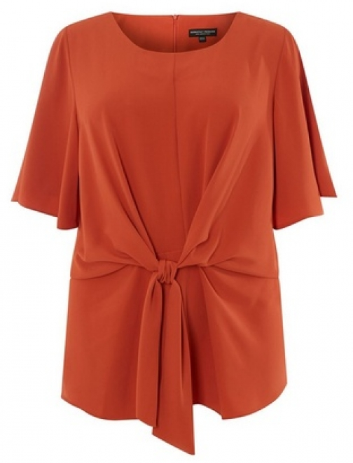 Dorothy Perkins Womens **DP Curve Rust Manipulated - Red, Red Top