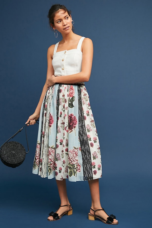Anthropologie Condorcet Floral - Assorted, Size Uk Skirt