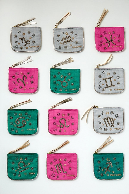 Anthropologie Zodiac Silk Pouch