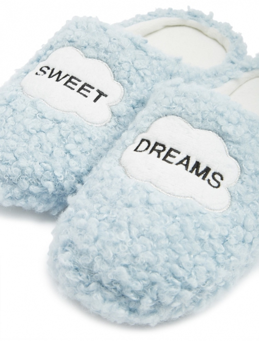 Forever21 Forever 21 Sweet Dreams Graphic Blue Slippers