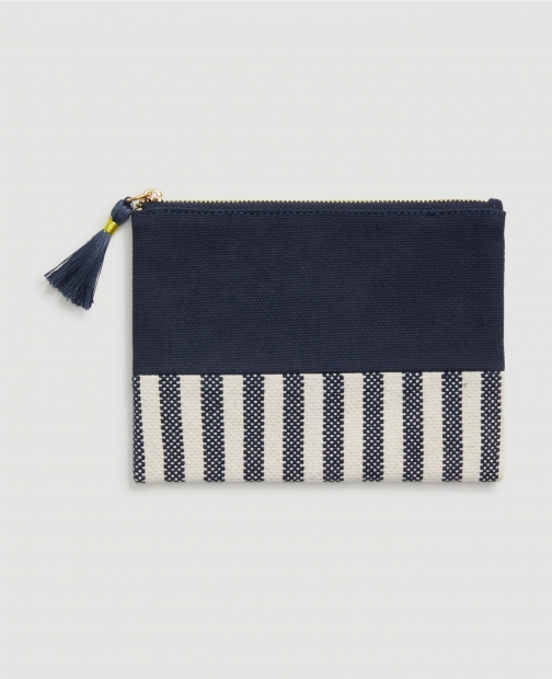 Ann Taylor Factory Striped Pouch