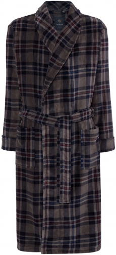 Howick Men's Howick Grey Check Dressing Gown