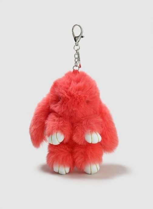 Dorothy Perkins Womens Coral Bunny Keyring- Coral, Coral Accessorie