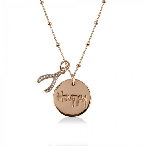 Radley Smile Rose Gold Necklace