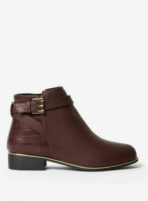 Dorothy Perkins Womens Burgundy 'Mayan' - Red, Red Ankle Boot