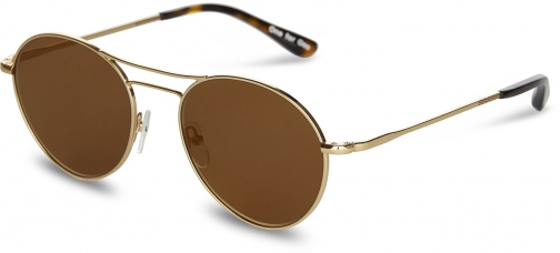 Toms Melrose Shiny Gold Mirror With Gold Mirror Lens Sunglasses