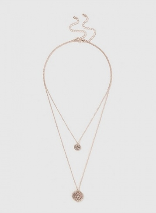 Dorothy Perkins Womens Glitter 2 Row - Silver, Silver Necklace