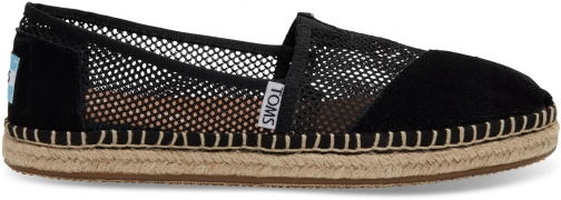 Toms Black Mesh Women's Classics Slip-On - Size UK7 / US9 Shoes