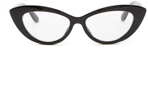 Forever21 Forever 21 Clear Cat-Eye Readers , Black/clear Eyewear