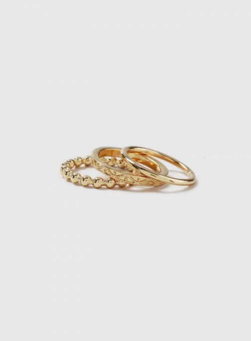 Dorothy Perkins 3 Pack Gold Look Detailed Ring