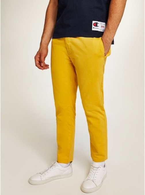 Topman Mens Yellow Woven Joggers, Yellow Athletic Pant