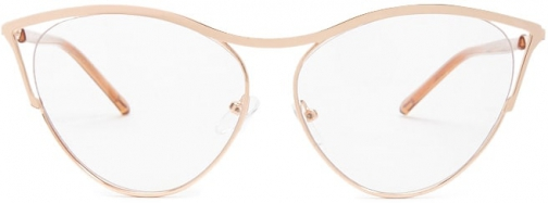 Forever21 Forever 21 Premium Round Metal Readers , Rose Gold/clear Eyewear