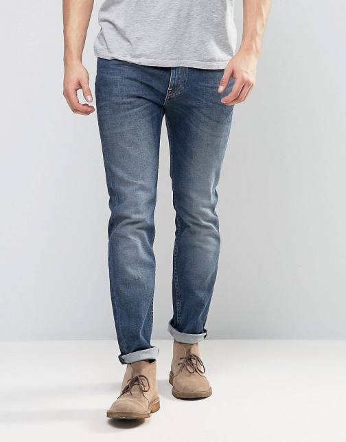 Lee Jeans Rider Stretch Blue Gloss Skinny Jeans