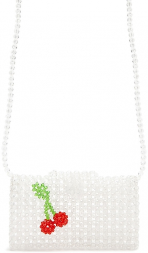 Forever21 Forever 21 Beaded Cherry Accent Crossbody , Clear/multi Crossbody Bag