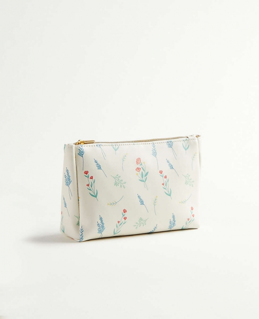Ann Taylor Triangle Cosmetic Pouch