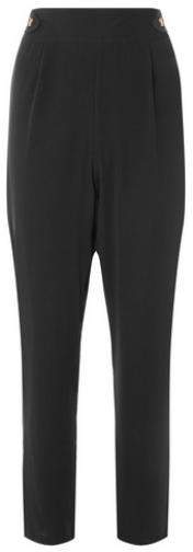Dorothy Perkins Womens Black Horn Button Joggers- Black, Black Athletic Pant