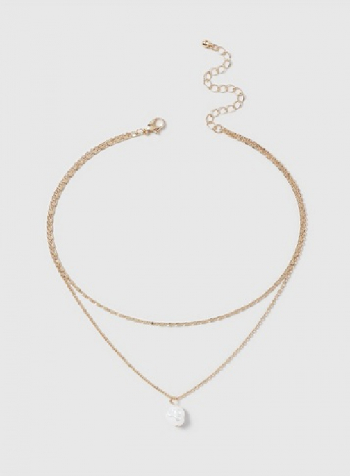 Dorothy Perkins Gold 2 Row Necklace Chokers