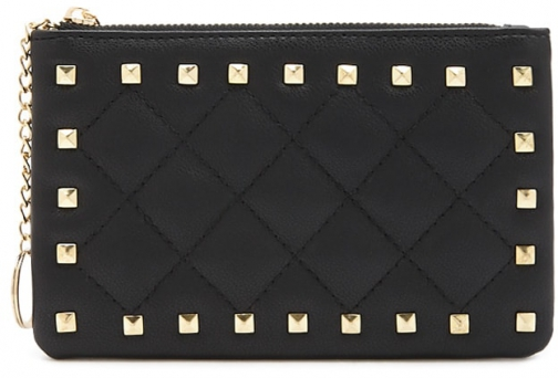 Forever21 Forever 21 Pyramid Studded Coin Black Purse