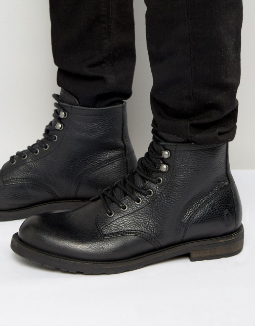 Shoe The Bear Walker Warm Leather Lace Up Boot