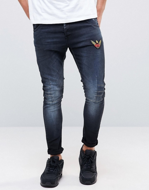 Juice Skinny Stretch Fit With Badges Jeans
