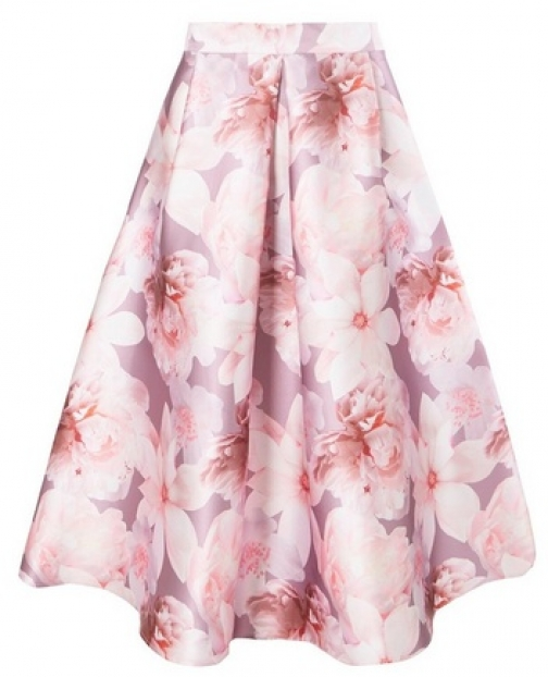 Dorothy Perkins Womens **Luxe Blush Floral Print Prom - Pink, Pink Skirt
