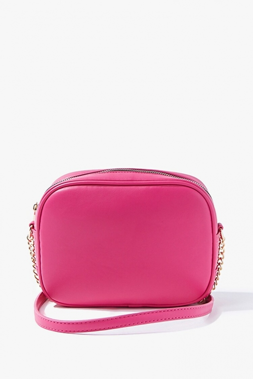 Forever21 Forever 21 Faux Leather , Hot Pink Crossbody Bag