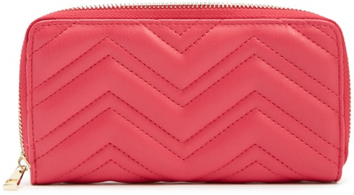 Forever21 Forever 21 Chevron Quilted Pink Wallet
