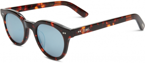 Toms Fin Whiskey Brown With Black Diamond Mirror Lens Sunglasses