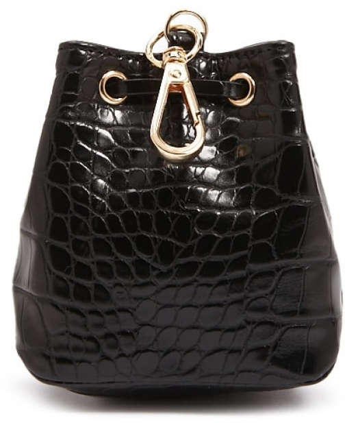Forever21 Forever 21 Faux Crocodile Leather Coin , Black Purse