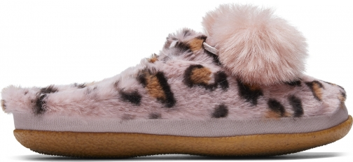 Toms Pink Cheetah Faux Fur With Tassels Women's Ivy Slippers