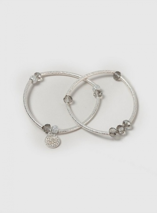 Dorothy Perkins Womens Bead And Bar Stretch - Silver, Silver Bracelet