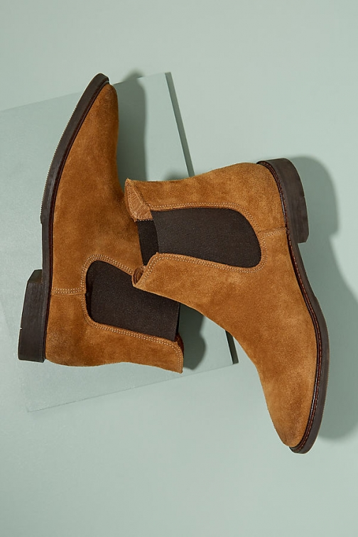 Anthropologie Selected Femme Suede - Brown, Size Chelsea Boot
