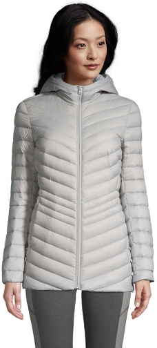 Lands' End Women's Ultralight Packable Down With Hood - Lands' End - Gray - XS Jacket