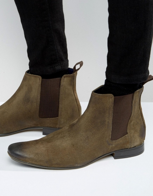 Frank Wright Chelsea Taupe Suede Boot